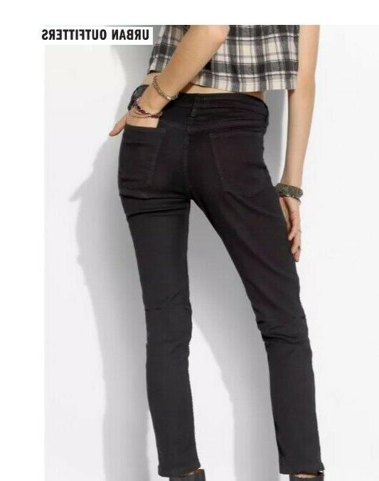 NEW, URBAN OUTFITTERS BDG, BLACK JEANS, ZIPPER, SIZE 4, 24