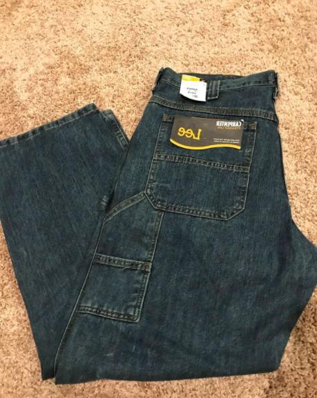 NEW With Tags Lee Jeans Mens Carpenter Loose Straight Leg Au
