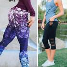 NEW Women Sports Yoga Workout Gym Fitness Mesh Leggings Pant