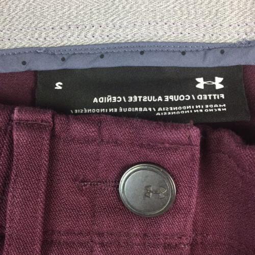 NWT Women's Burgundy Fitted Golf Slim Skinny Pants