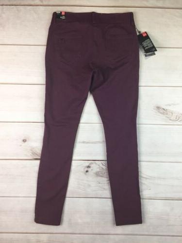 NWT $90 Armour Women's 2 Burgundy Golf Skinny Pants