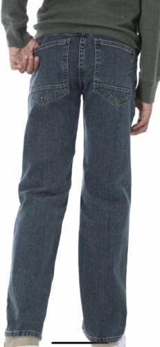 NWT BOYS WRANGLER LT MED BLUE JEANS SIZE 6 Adjustable Waist