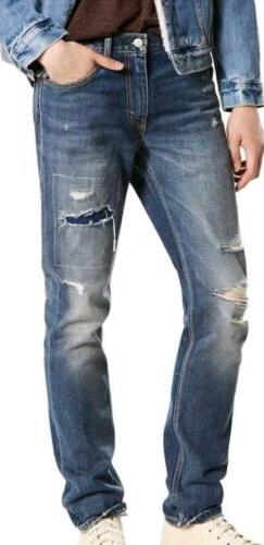 NWT LEVI'S 511 Slim Distressed Destructed Comeback Kid Jeans