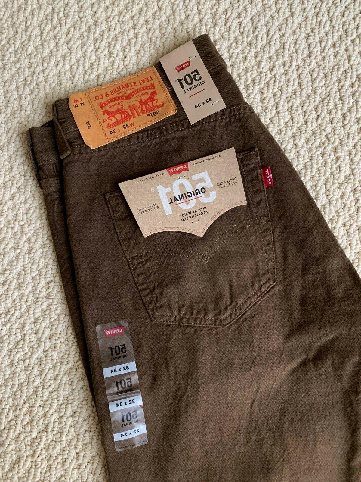 NWT Men's 501 Original Denim Straight Jeans 32 33x34