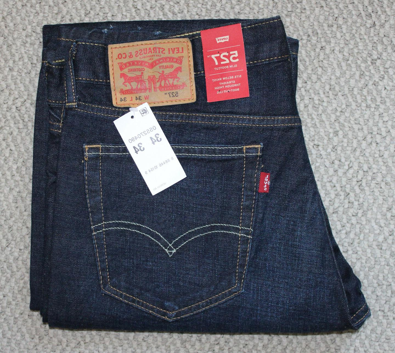 NWT • Men's LEVI'S 527 JEANS • Denim Pants • Dark Wash