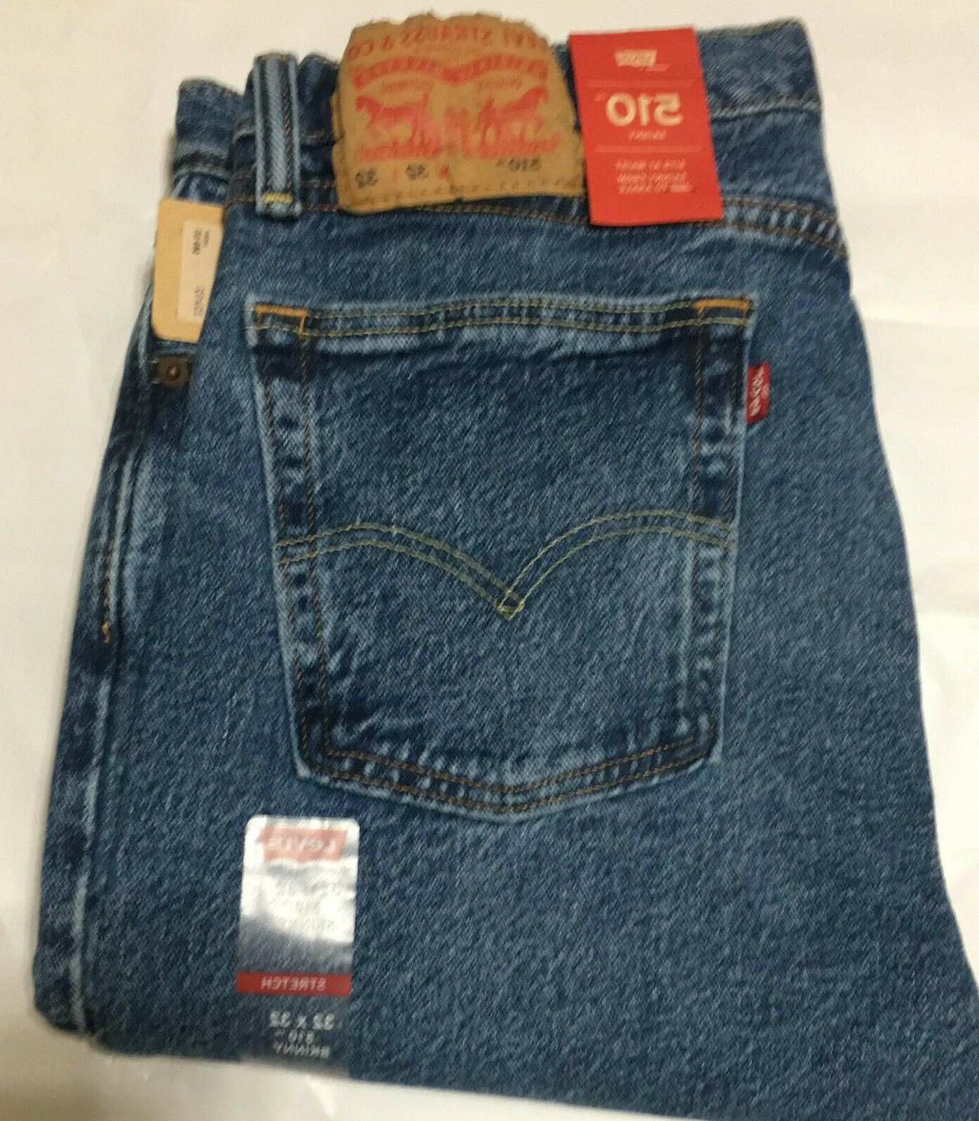NWT LEVI'S 0786 SKINNY SITS AT WAIST BLUE JEANS PANT