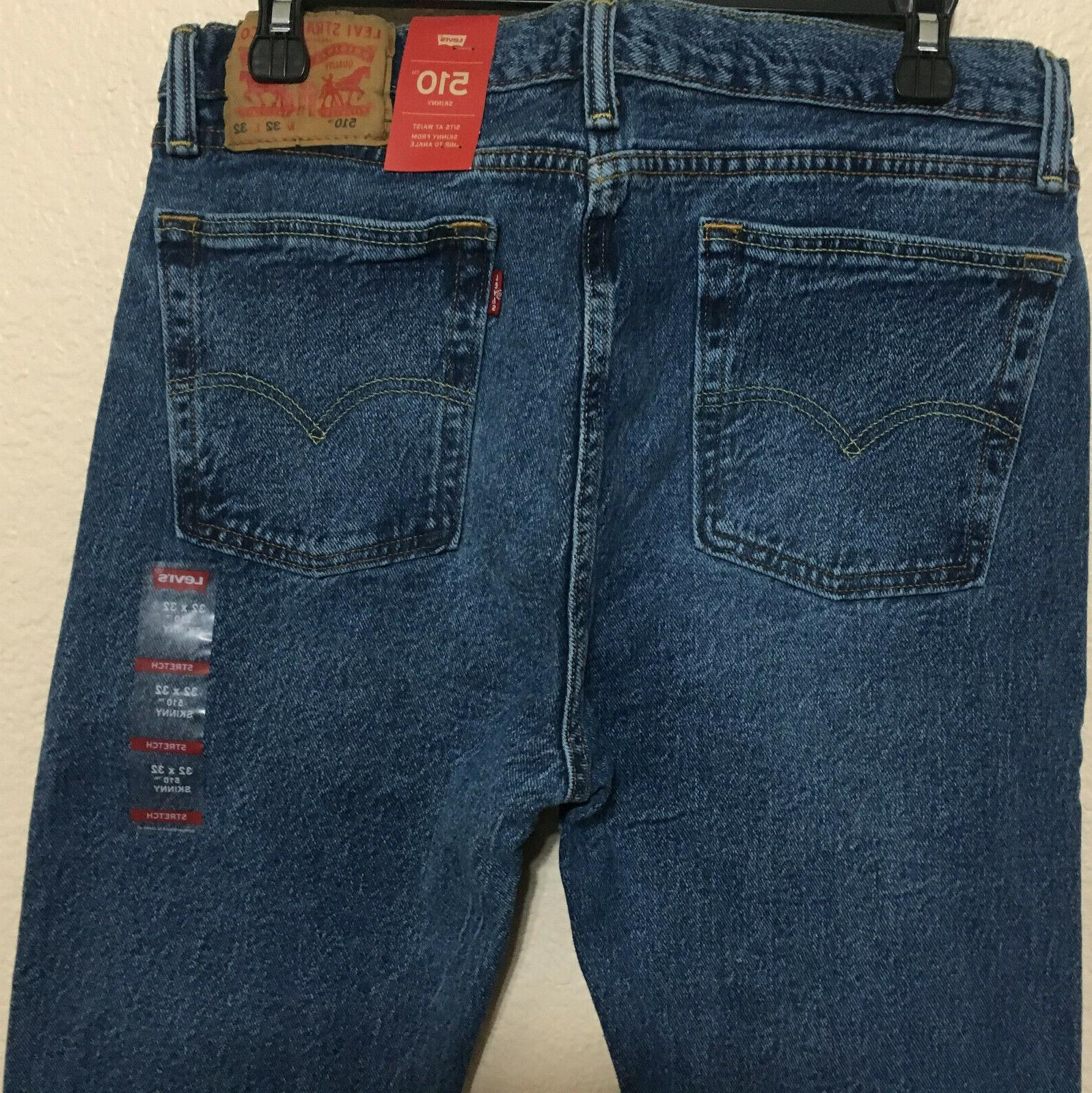 NWT LEVI'S 0786 SKINNY AT BLUE PANT $70