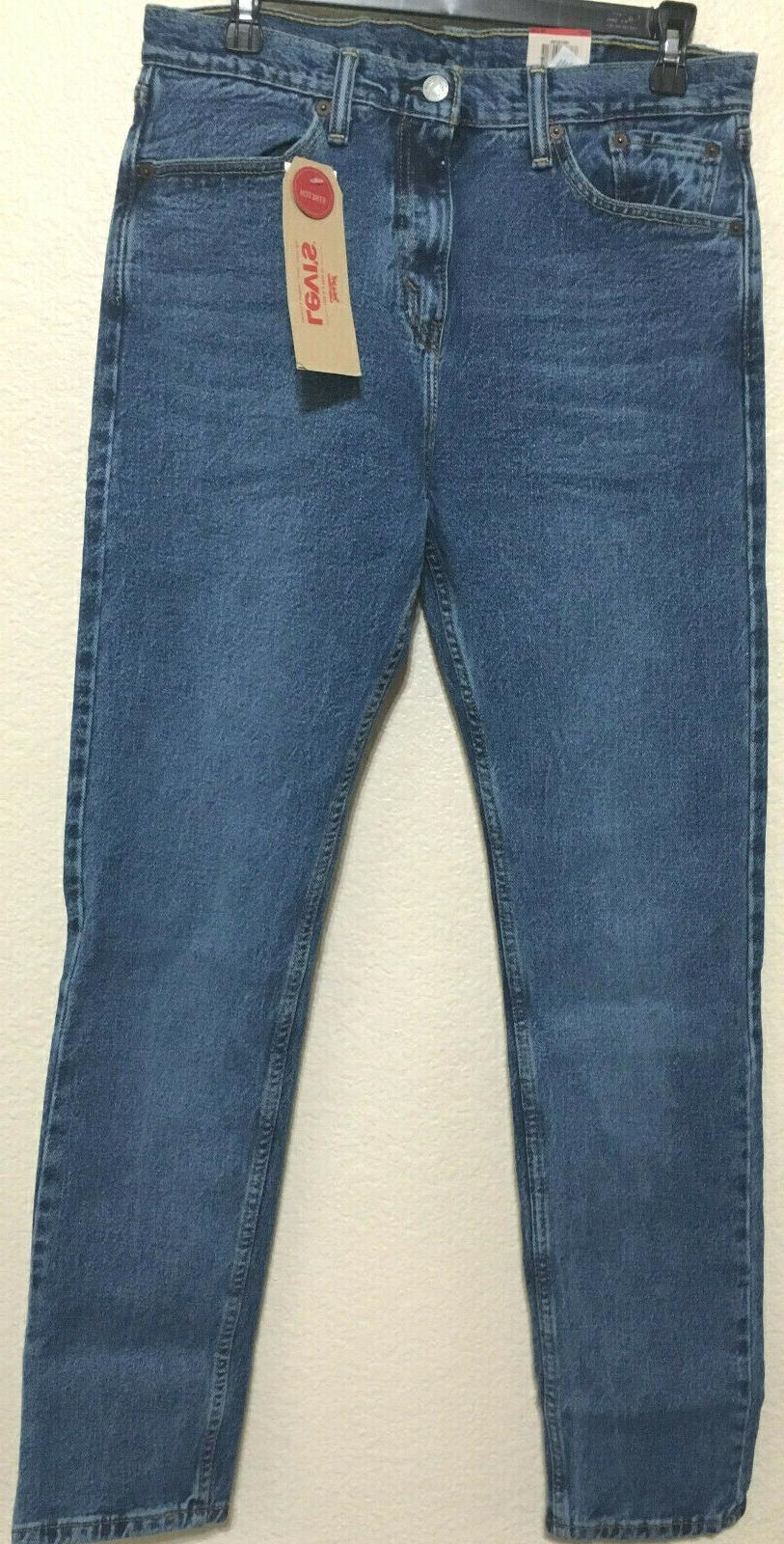 NWT MEN'S LEVI'S 0786 SKINNY AT BLUE PANT $70