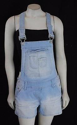 NWT Maurices Woman's Overall Denim Jeans Light wash Shorts S