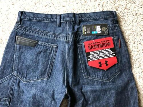 NWT Jeans Men's Sz 36x32 Leather Reinforced