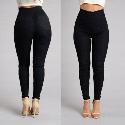 Pencil Women Stretch Casual Pants High