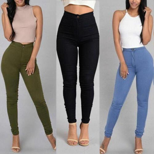 Pencil Jeans Stretch Casual Pants US