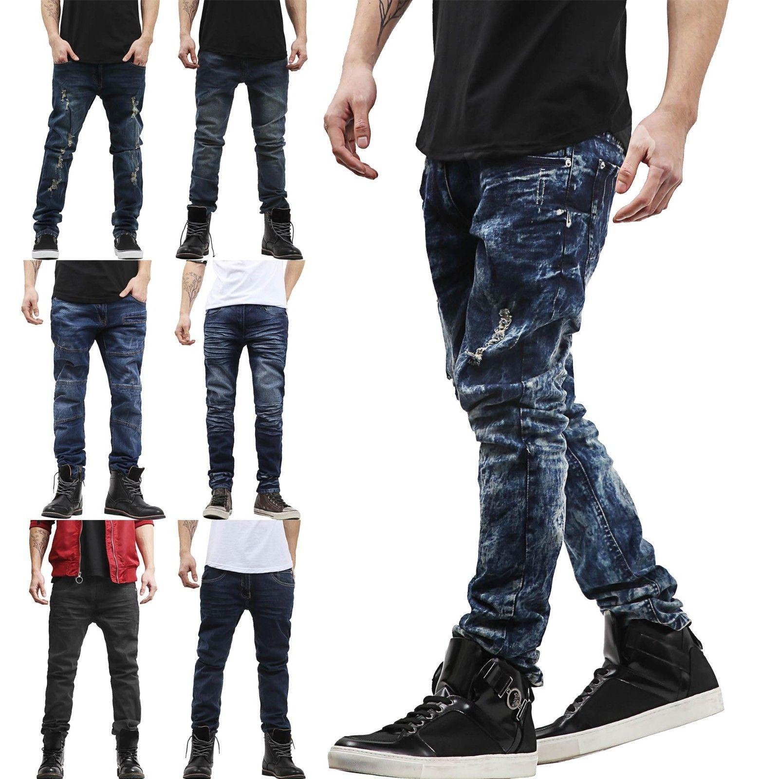 pi mens skinny jeans stretch distressed ripped