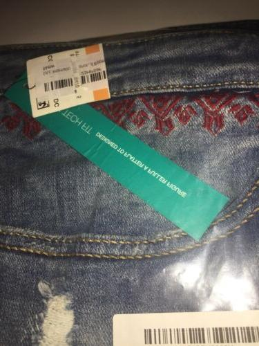 INC Size Embroidered Ripped Size 24W,