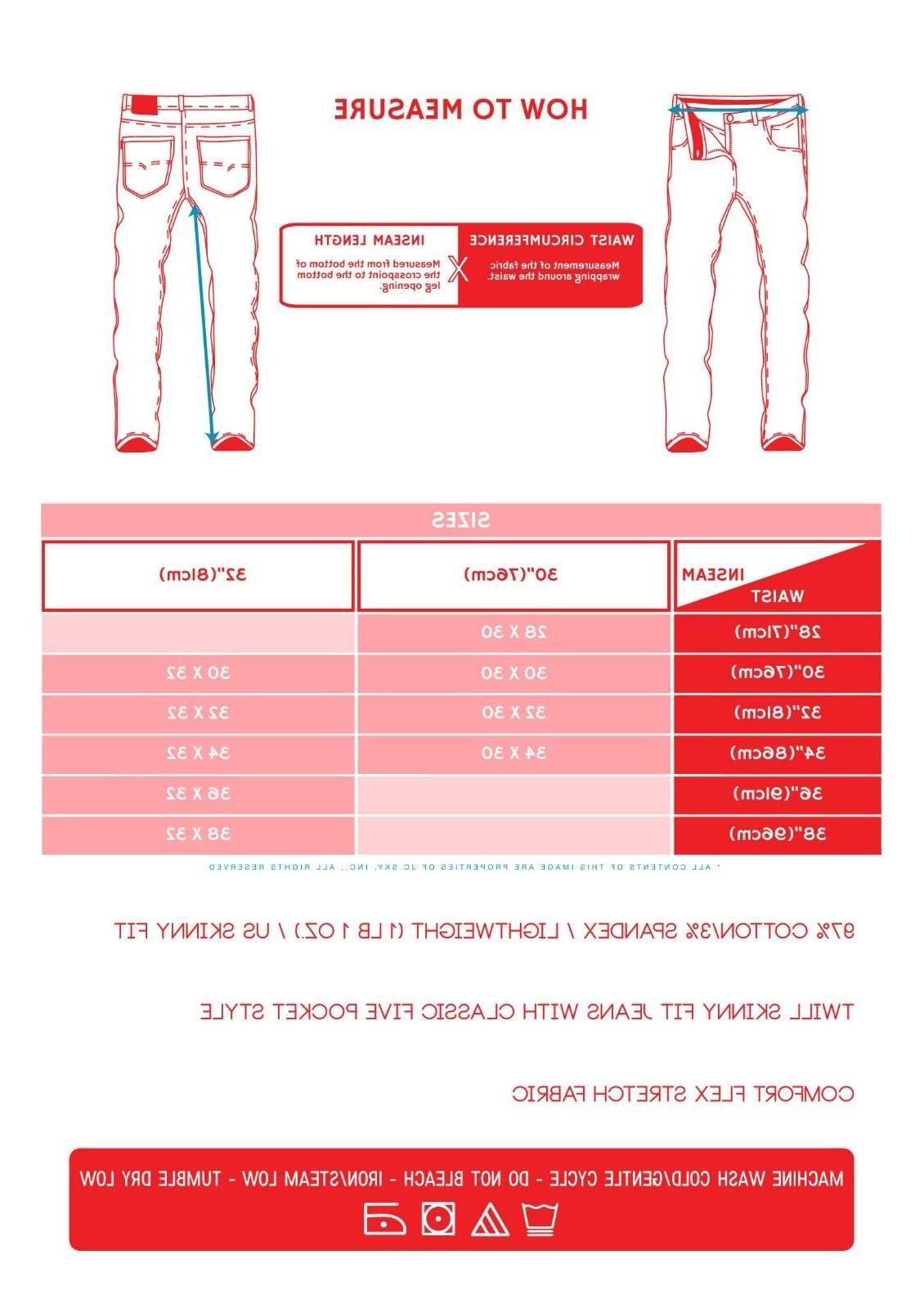 Mens Skinny Fit Color Washed Premium
