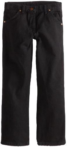 Wrangler Boys' Cowboy Cut Relaxed Fit Jean, Overdyed Black D