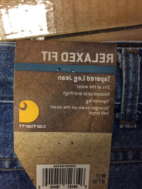 relaxed fit jeans b17stw size 34x32 brand