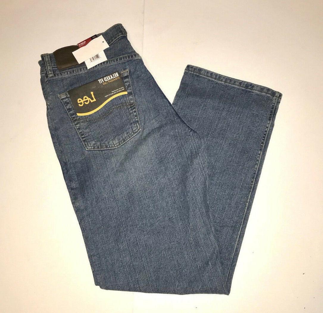 Lee Relaxed Fit Jeans Straight Leg Comfort Stretch Larson Me