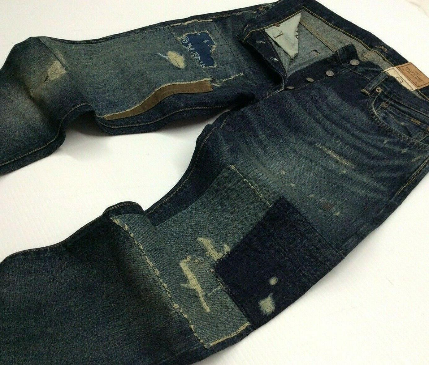 Polo Ralph Lauren Repaired Patchwork Distressed Shred Ripped