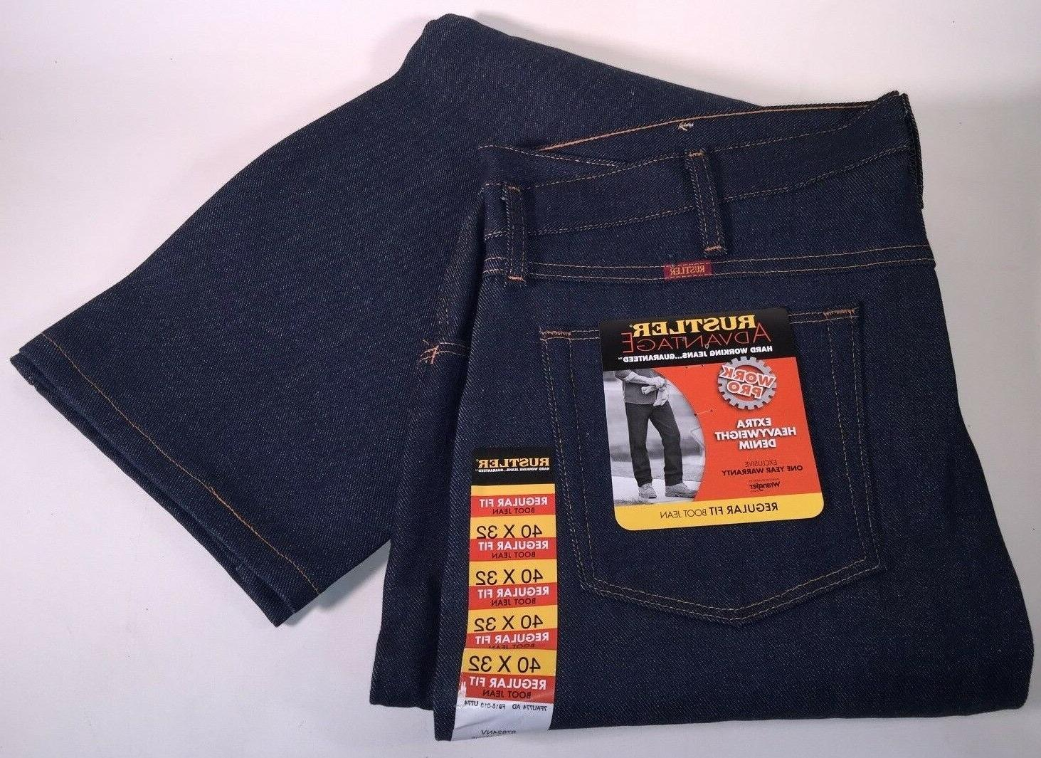 Wrangler Rustler Advantage Regular Fit Boot Cut Work Denim J