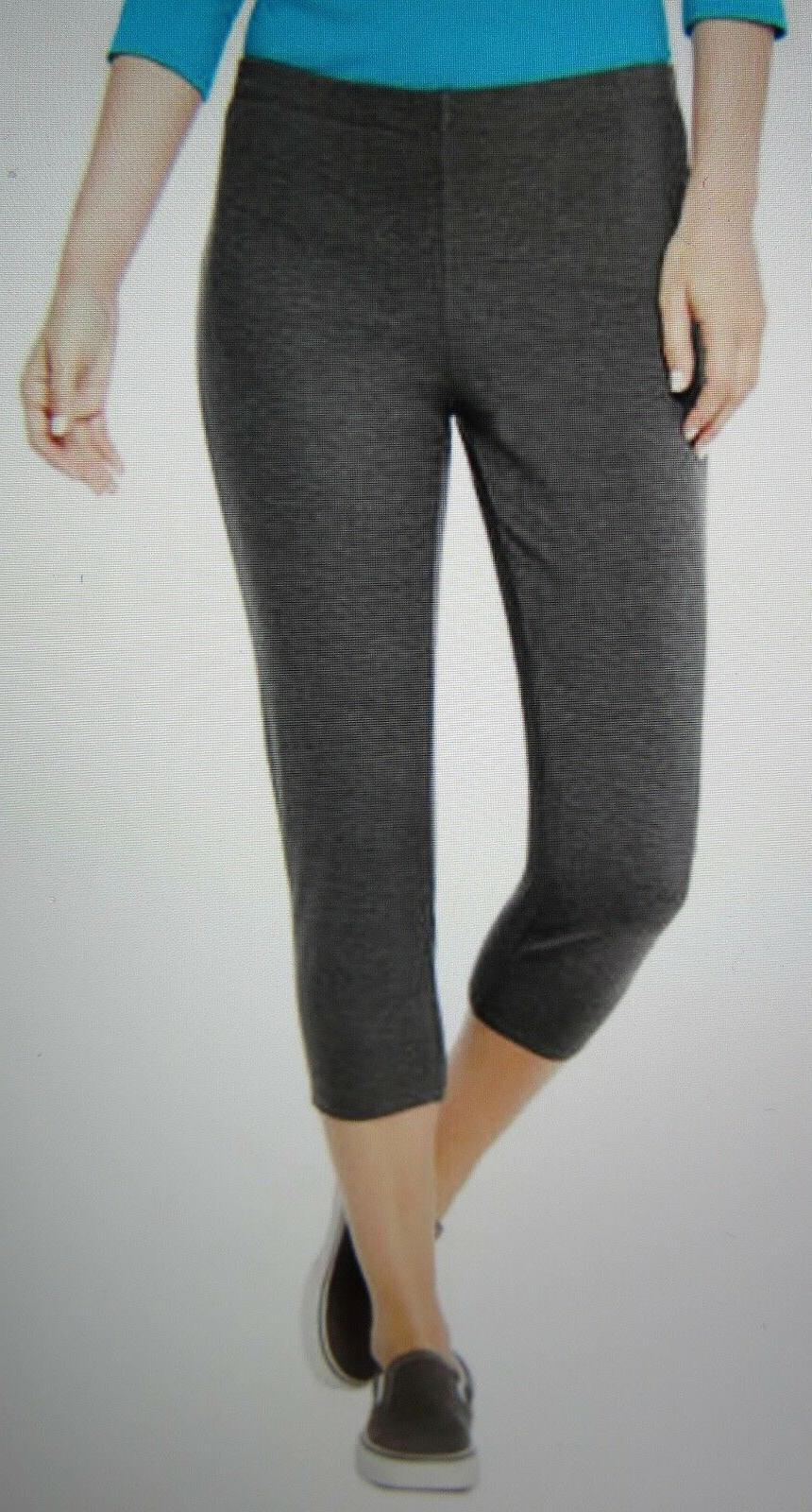 Hanes Women's Stretch Jersey Capris Charcoal Heather 2XL