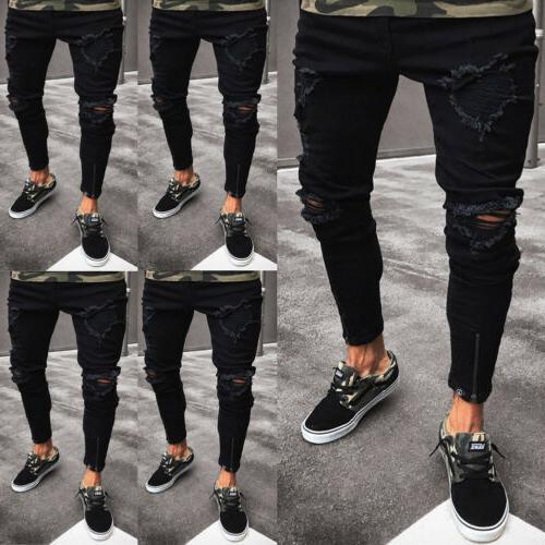 Stylish Men's Jeans Fit Trousers