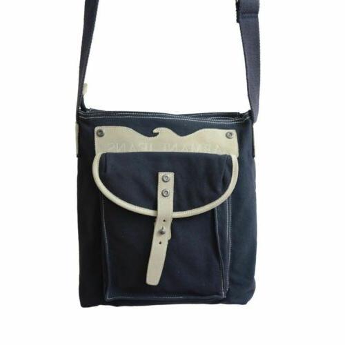 Armani Leather Trimmed Messenger Bag