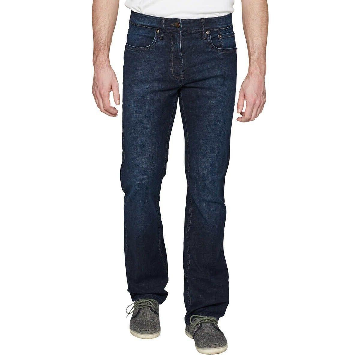 Urban Star Mens Wash Denim Pocket Jeans Pants Relaxed Fit