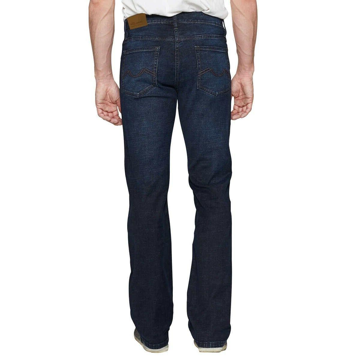 Urban Star Mens Wash Denim Pocket Fit Size