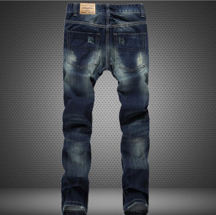 US Stretch Slim Fit Distressed Skinny Biker Casual Pants