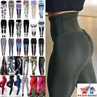US Women Sexy Push Up Yoga Pants Sport Gym Skinny Leggings F