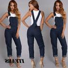 US Womens Skinny Denim Jeans BIB Pants Overalls Straps Jumps