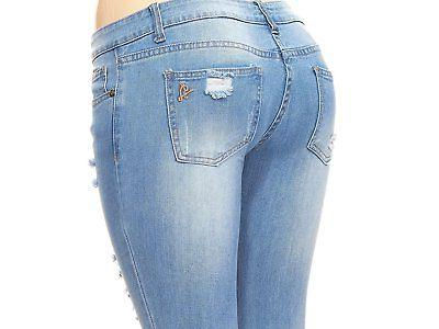 VIP Jeans Ripped Distressed Junior / 5 Colors
