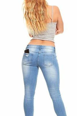 VIP Jeans Ripped Skinny jeans for Junior Plus
