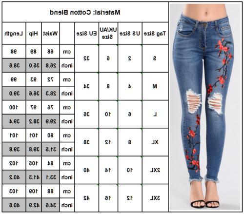 Womens Denim Skinny Jeggings Long Pants 2 To 12