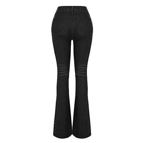 COPPEN Women Hole Female Mid Stretch Pants