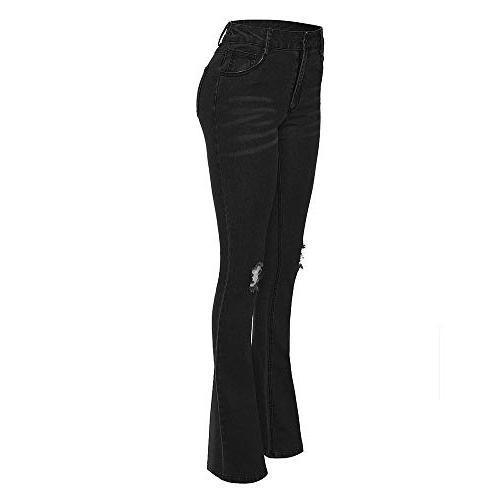 women jeans denim hole female