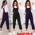 Women Ladies Loose Denim Jeans Pants Overalls Straps Jumpsui