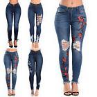 Women Lady Skinny Pants High Waist Stretch Jeans Slim Pencil