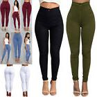 Women Pencil Stretch Denim Skinny Jeans Pants High Waist Sli