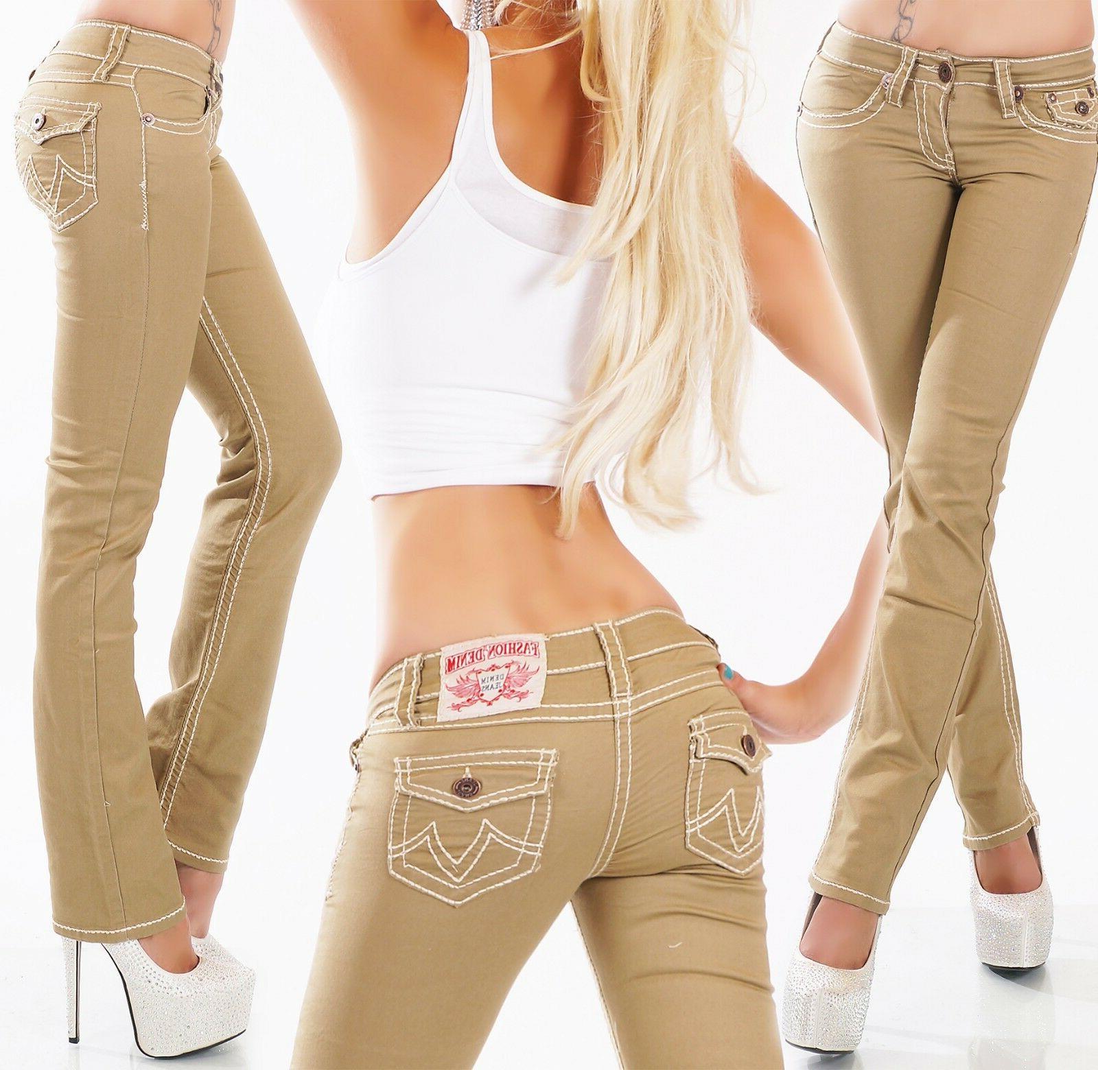 Women's Straight Leg Denim Jeans S/M/L/XL/XXL