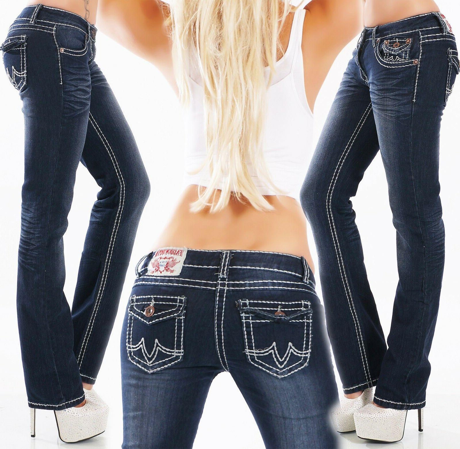 Women's Straight Denim Jeans -