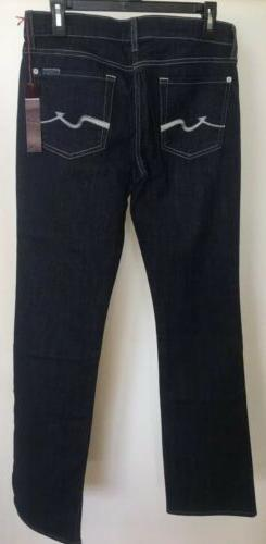 7 For All Mankind Women's Bootcut Jeans Dark Wash Streth D