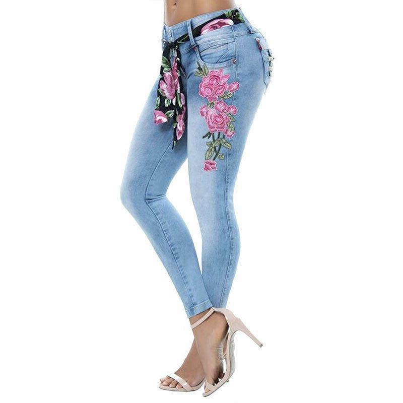 Plus Women Print Long Trousers