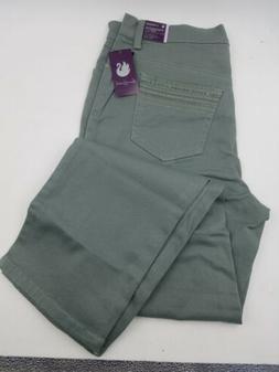 Ladies Amanda Jeans Size 12 Green Stretch Denim Classic Fit