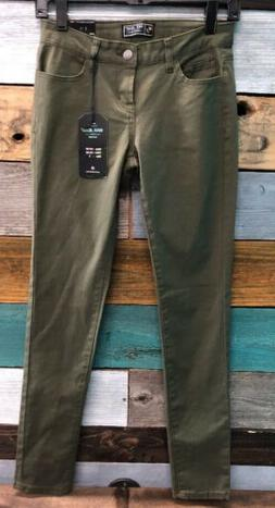 WAX JEAN LEGGING WOMENS JEANS Size 3 Olive GREEN NWT