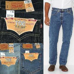 Levi's 501 Men's Blue Jeans Pants Original Button Fly Classi