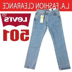 LEVI'S 501 Men's NWT Original Button-Fly Jeans Light Wash 28