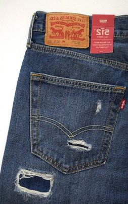 Levi's  512 SLIM  Taper  Ripped Jeans
