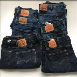 LEVI'S 514 MEN'S REGULAR STRAIGHT FIT STRETCH DENIM JEANS Si